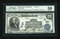 National Bank Notes:Wisconsin, Milwaukee, WI - $20 1902 Date Back Fr. 642 The First NB Ch. # (M)64. ...