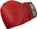Boxing Collectibles:Autographs, Evander Holyfield Signed Glove....