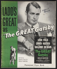 """The Great Gatsby (Paramount, 1949). Pressbook (24 Pages, 12"""" X 15""""). Drama"""