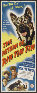 "Movie Posters:Adventure, The Return of Rin Tin Tin (PRC Pictures, 1947). Insert (14"" X 36"").Adventure. ..."