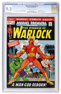 Marvel Premiere #1 Warlock (Marvel, 1972) CGC NM- 9.2 Off-white to white pages