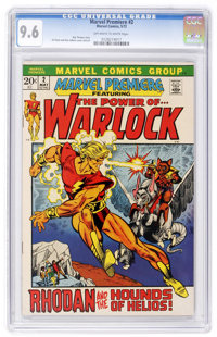 Marvel Premiere #2 Warlock (Marvel, 1972) CGC NM+ 9.6 Off-white to white pages