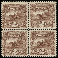 #113, 1869, 2c Brown. (Original Gum - Hinged)