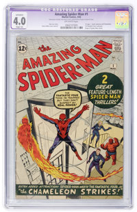 The Amazing Spider-Man #1 (Marvel, 1963) CGC Apparent VG 4.0 Slight (A) Off-white pages