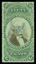 Stamps, #RB8b, 1874, 50c Green And Black. (Used)....