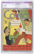Platinum Age (1897-1937):Miscellaneous, The Comics #1 (Dell, 1937) CGC Apparent VG/FN 5.0 Slight (A) Creamto off-white pages....