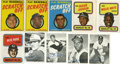 Baseball Cards:Sets, 1969-1971 Topps Baseball Specialty Complete Sets (3)... (Total: 3 sets)