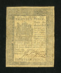 Colonial Notes:Delaware, Delaware May 1, 1777 18d Very Fine, Repaired....