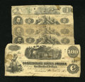 Confederate Notes:Group Lots, Five Confederate Notes. . ... (Total: 5 notes)