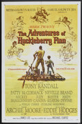 "Movie Posters:Adventure, The Adventures of Huckleberry Finn (MGM, 1960). One Sheet (27"" X41""). Adventure...."