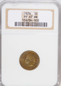 Proof Indian Cents, 1876 1C PR67 Brown NGC....