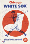 Autographs:Others, 1960 Chicago White Sox Team Signed Program....