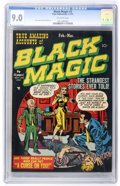 Golden Age (1938-1955):Horror, Black Magic #3 (Prize, 1951) CGC VF/NM 9.0 Off-white pages....