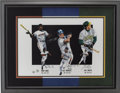 Baseball Collectibles:Others, 40-40 Club Multi-Signed Lithograph....