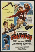 "Movie Posters:Sports, Crazylegs (Republic, 1953). One Sheet (27"" X 41"") Style A. Sports...."