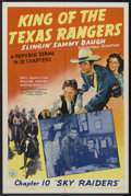 "Movie Posters:Serial, King of the Texas Rangers (Republic, 1941). One Sheet (27"" X 41"")Chapter 10 -- ""Sky Raiders."" Serial...."