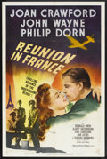"Movie Posters:War, Reunion in France (MGM, 1942). One Sheet (27"" X 41"") Style C.War...."