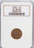 Proof Indian Cents, 1870 1C PR66 Red and Brown NGC....