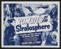 "Movie Posters:Serial, Zombies of the Stratosphere (Republic, 1952). Lobby Card Set of 4(11"" X 14""). Episode 10 -- ""Flying Gas Chamber"". Serial.... (Total:4 Items)"