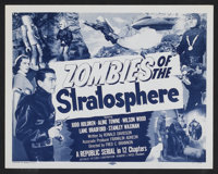 "Zombies of the Stratosphere (Republic, 1952). Lobby Card Set of 4 (11"" X 14""). Episode 10 -- ""Flying Gas..."