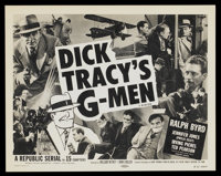 "Dick Tracy's G-Men (Republic, R-1955). Lobby Card Set of 4 (11"" X 14""). Episode 3 -- ""The False Signal&qu..."