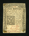 Colonial Notes:Connecticut, Connecticut June 1, 1773 40s About New, Mounted....