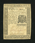 Colonial Notes:Pennsylvania, Pennsylvania April 25, 1776 30s Extremely Fine....