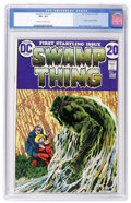 Bronze Age (1970-1979):Horror, Swamp Thing #1 (DC, 1972) CGC VF+ 8.5 Off-white to white pages....