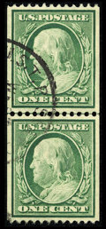 Stamps, #348, 1908, 1c Green, XF-S 95 PSE. (Used)....