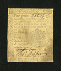 Colonial Notes:Pennsylvania, Pennsylvania April 3, 1772 4d Fine....