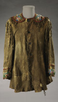 Western Expansion:Indian Artifacts, Pequot Indian Shirt with Accoutrements. ...