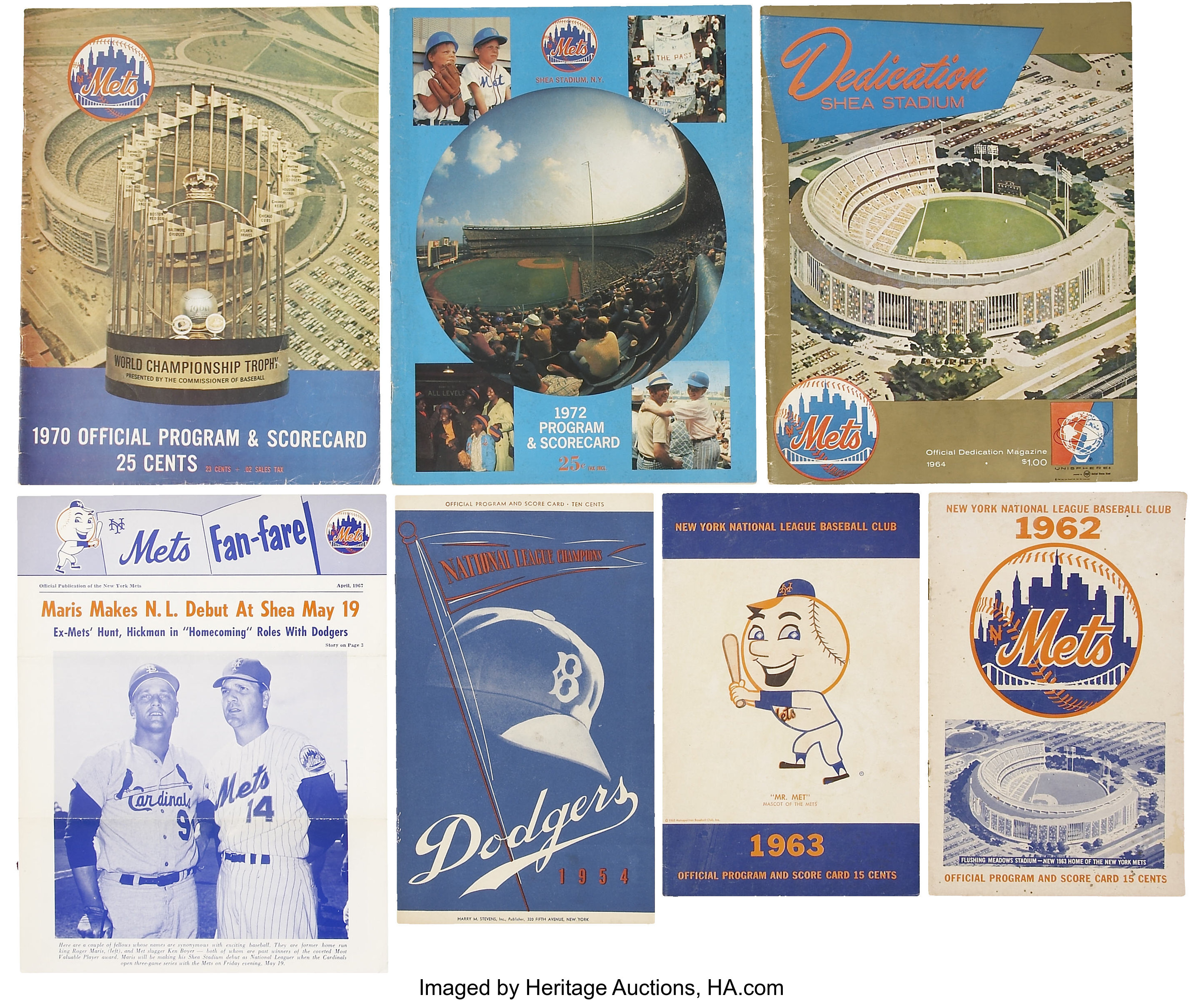 separation shoes 6f517 e8bf0 1954-72 New York Mets and Brooklyn Dodgers MLB Publications ...