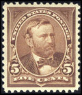 Stamps, #270, 1895, 5c Chocolate, XF-S 95 PSE. (Original Gum - Never Hinged).... (Total: 1 Slab)