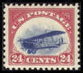 Stamps, #C3, 1918, 24c Carmine Rose & Blue, XF-S 95 PSE. (Original Gum - Never Hinged)....
