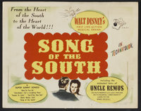 "Song of the South (RKO, 1946). Title Lobby Card (1) and Lobby Cards (5) (11"" X 14""). Animated.... (Total: 6 It..."