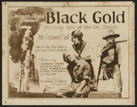 "Black Gold (Norman, 1928). Lobby Card Set of 8 (11"" X 14"") and Pressbook (14"" X 28""). Black Films..."