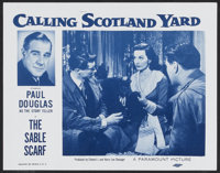 "Calling Scotland Yard--The Sable Scarf (Paramount, 1954). Lobby Card Set of 4 (11"" X 14""). Short Subject.... (..."