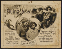 """The Flying Ace (Norman, 1926). Lobby Card Set of 8 (11"""" X 14"""") and Program (14"""" X 22""""). Black Films..."""