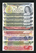 Canadian Currency: , Oh, Canada, Fine or Better.. ... (Total: 11 notes)