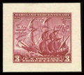 Stamps, #736P2, 1934, 3c Carmine Rose, Small Die Proof on White Wove Paper....