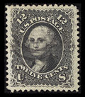 Stamps, #90, 1867, 12c Black, XF 90 PSE. (Used)....