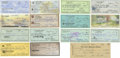 Autographs:Checks, Vintage Baseball Stars Signed Checks Lot of 15. Here we offer acollection of cancelled checks from vintage baseball stars,...