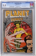 Golden Age (1938-1955):Science Fiction, Planet Comics #49 (Fiction House, 1947) CGC VG- 3.5 Cream to off-white pages....