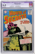 Silver Age (1956-1969):Horror, House of Secrets #1 (DC, 1956) CGC Apparent FN 6.0 Extensive (P)Off-white to white pages....