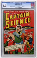 Golden Age (1938-1955):Science Fiction, Captain Science #2 (Youthful Magazines, 1951) CGC FN 6.0 Off-whiteto white pages....