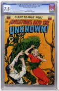 Golden Age (1938-1955):Horror, Adventures Into The Unknown #32 (ACG, 1952) CGC VF- 7.5 Whitepages....
