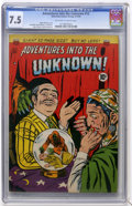 Golden Age (1938-1955):Horror, Adventures Into The Unknown #12 (ACG, 1950) CGC VF- 7.5 Off-whiteto white pages....
