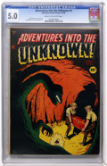 Golden Age (1938-1955):Horror, Adventures Into The Unknown #4 (ACG, 1949) CGC VG/FN 5.0 Cream tooff-white pages....