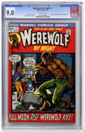 Bronze Age (1970-1979):Horror, Werewolf by Night #1 (Marvel, 1972) CGC VF/NM 9.0 Off-whitepages....