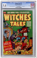 Golden Age (1938-1955):Horror, Witches Tales #5 File Copy (Harvey, 1951) CGC VF- 7.5 Cream tooff-white pages....